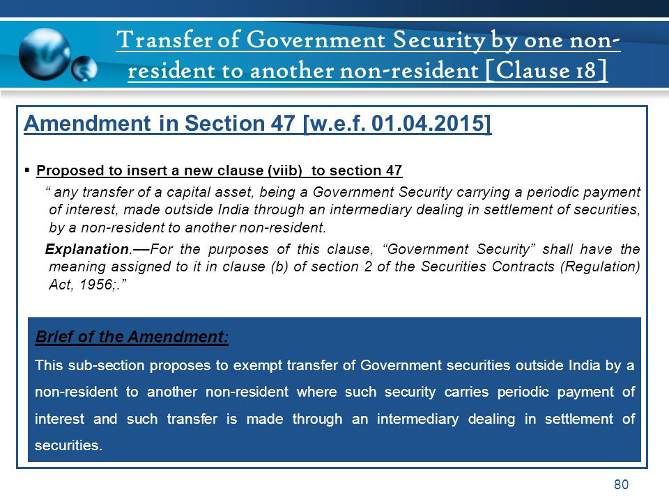 Transfer of Government Security by one non-resident to another non-resident [Clause 18]